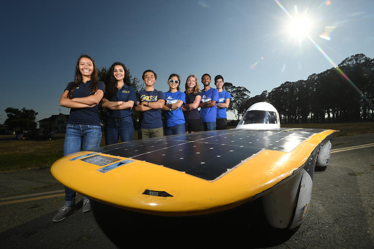 CalSol solar car and competition team 2017. Berkeley Engineering